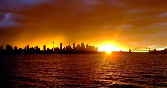 Picture of Champagne Sunset Sailing on Sydney Harbour
