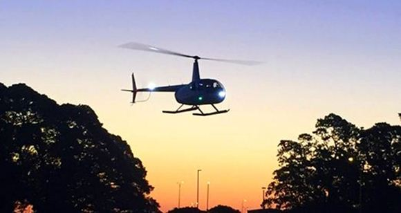 Picture of Helicopter - Twilight Flight