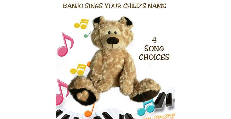 Banjo the personalised Singing Teddy Bear