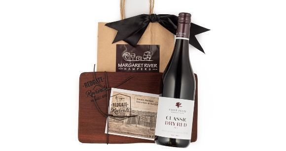 Picture of Cheese Board and Wine Gift Bag